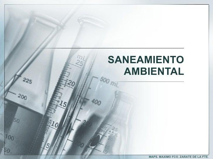 Saneamiento y contaminación ambiental 2011