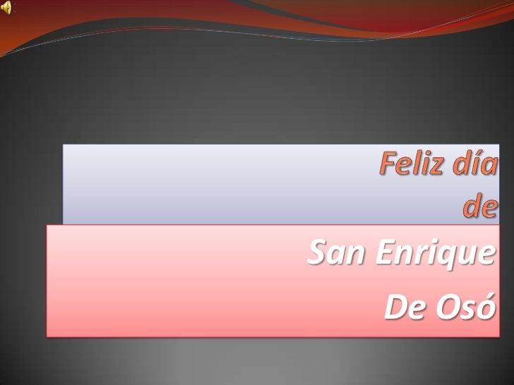 San Enrique    De Osó