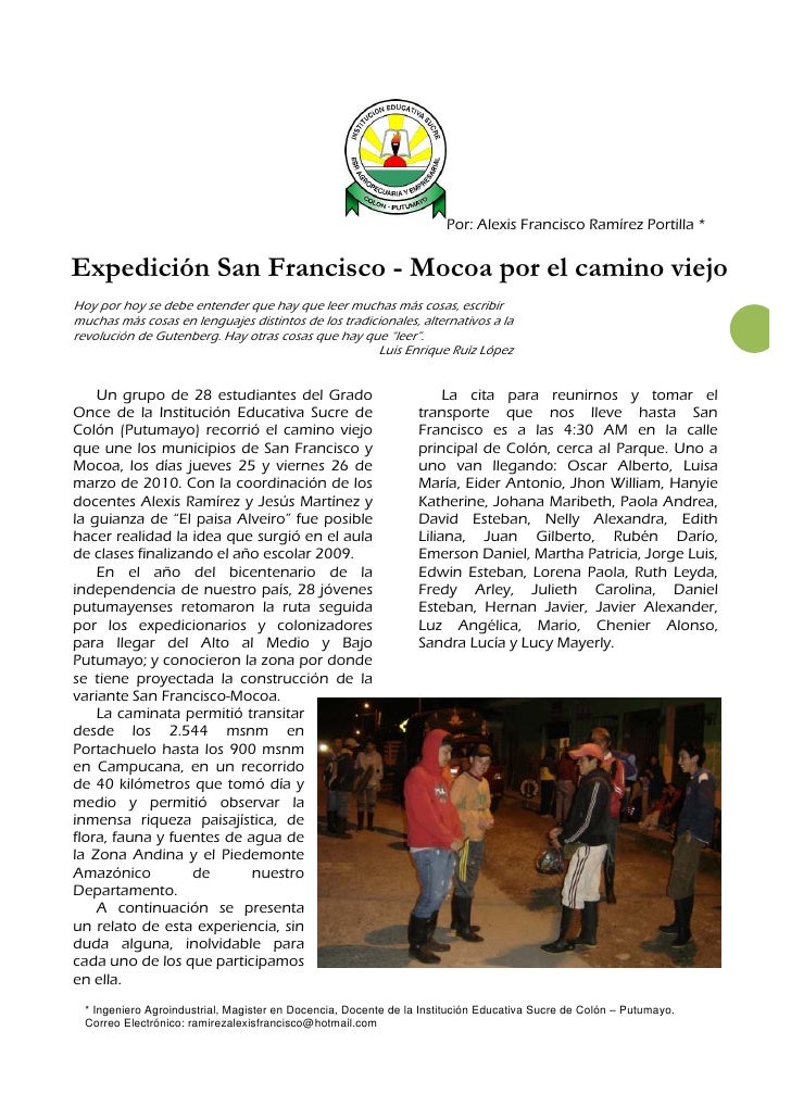 Expedición San                                                                      Francisco - Mocoa                     ...