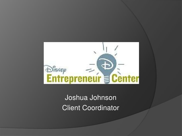 Joshua Johnson<br />Client Coordinator<br />