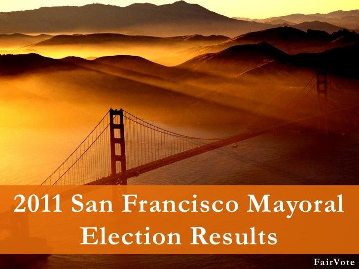 San francisco, 2011 mayoral election graphs