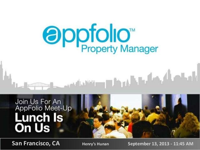 San Francisco AppFolio meetup