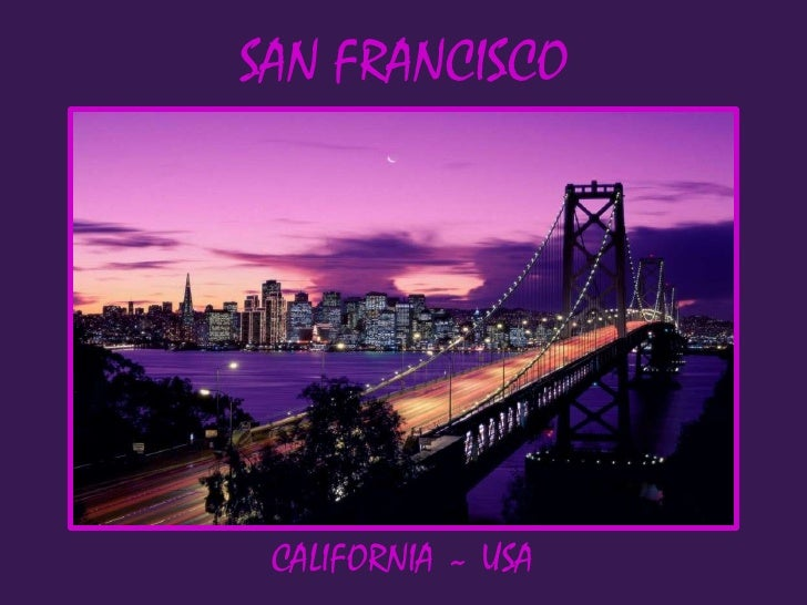 SAN FRANCISCO CALIFORNIA ~ USA