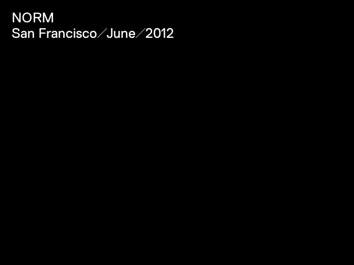 NormSan Francisco/June/2012
