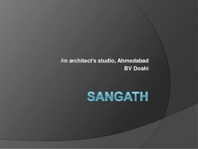 An architect's studio, Ahmedabad BV Doshi