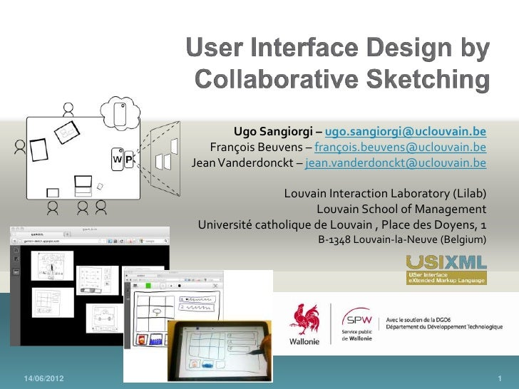 User Interface Design by Collaborative Sketching