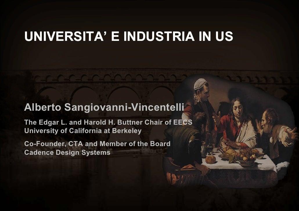 Sangiovanni Vincentelli Gruppo 2003 Insieme Per La Ricerca  Milano 21 Settembre