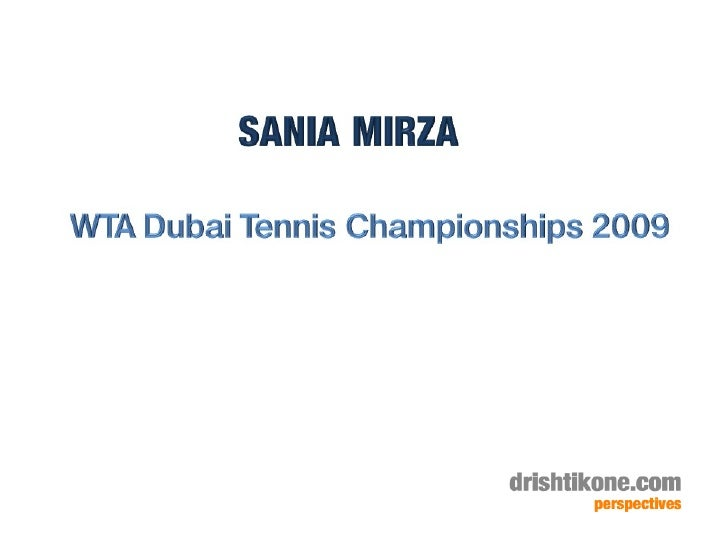 Sania Mirza In Dubai