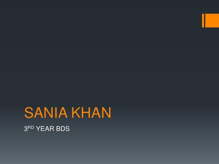 Presentation on IDJSR by Sania Khan