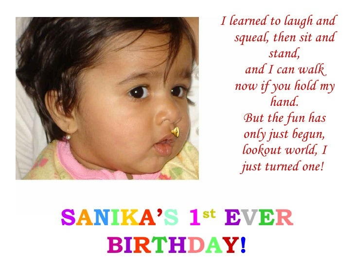Sanika\'s First Birthday