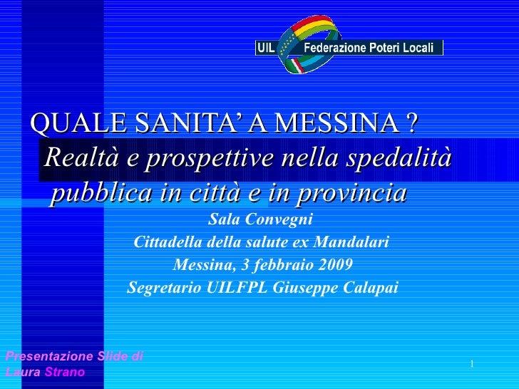 Messina Sanità 2009
