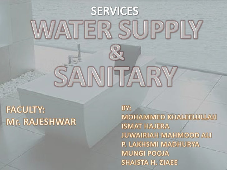 MAIN SOURCES     OF   WATER
