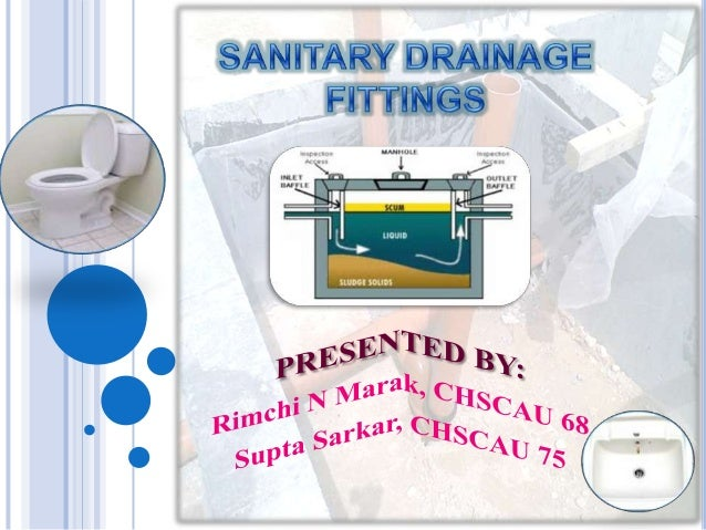 Sanitary drainage fittings
