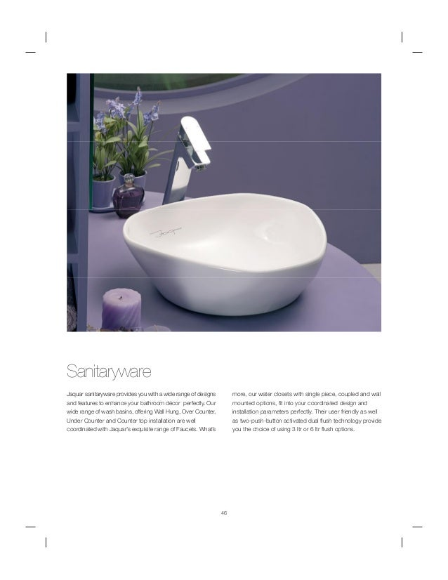 Jaguar sanitary ware for Jaquar bathroom designs