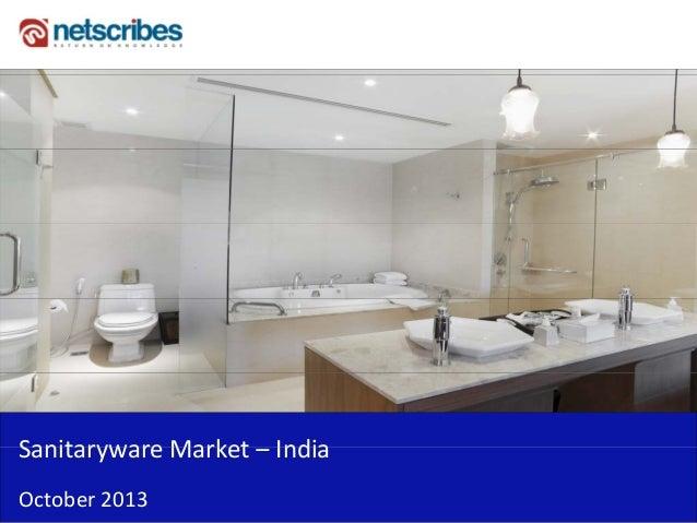 Market Research Report : Sanitaryware market in india 2013