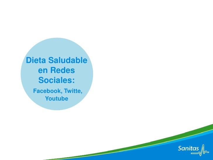 Sanitas Dieta Saludable en Redes Sociales