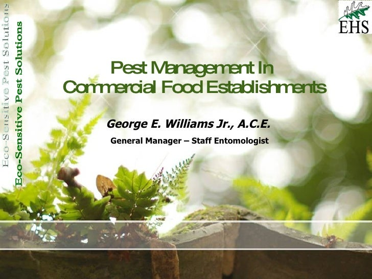 Sanitation + Pests In Commercial Foods Accounts
