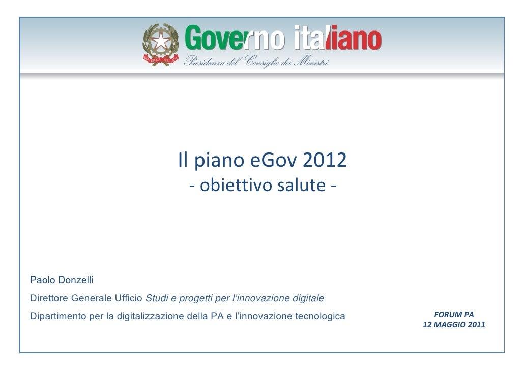 La sanità elettronica in Italia nel 2012: il piano del Governo