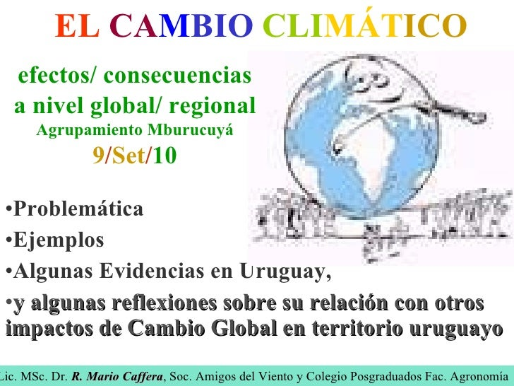 Cambio climático de Mario Caffera
