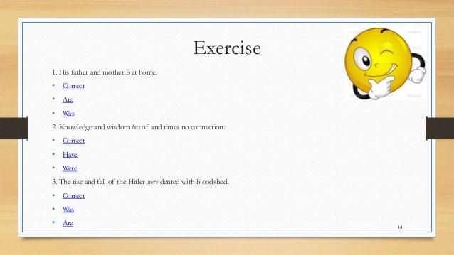 worksheet : plm english grammar subject verb agreement : Subject Verb ...