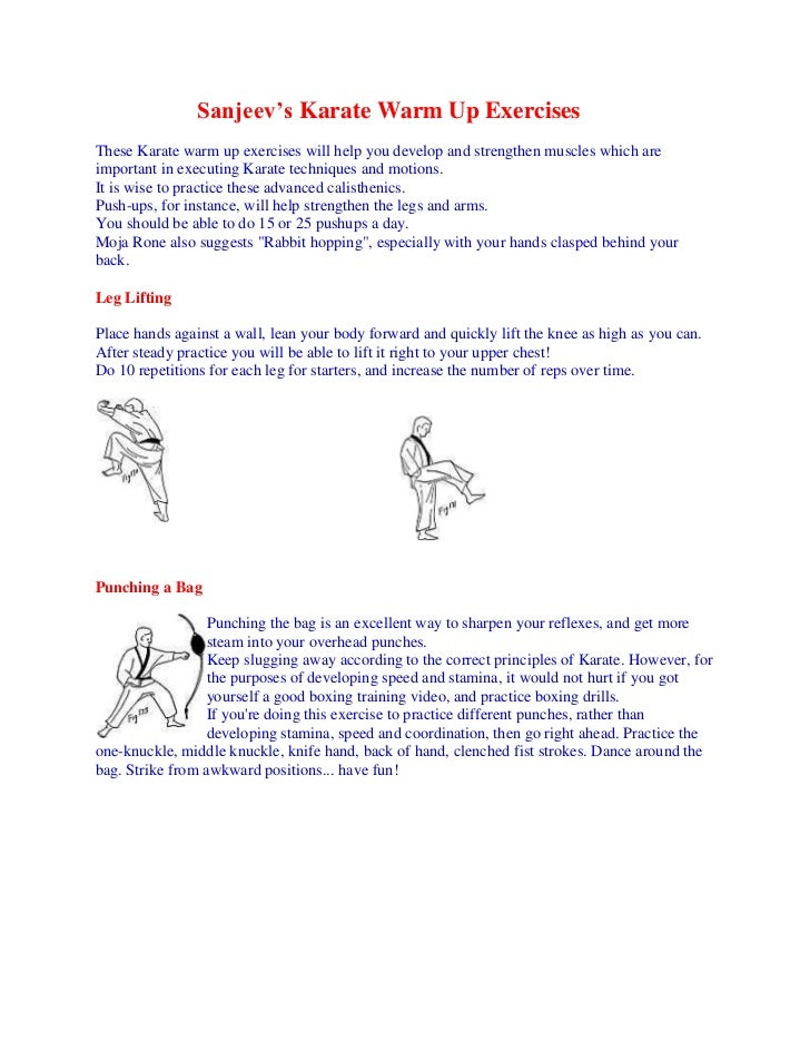 Sanjeev's Karate Warm Up ExercisesThese Karate warm up exercises will help you develop and strengthen muscles which areimp...