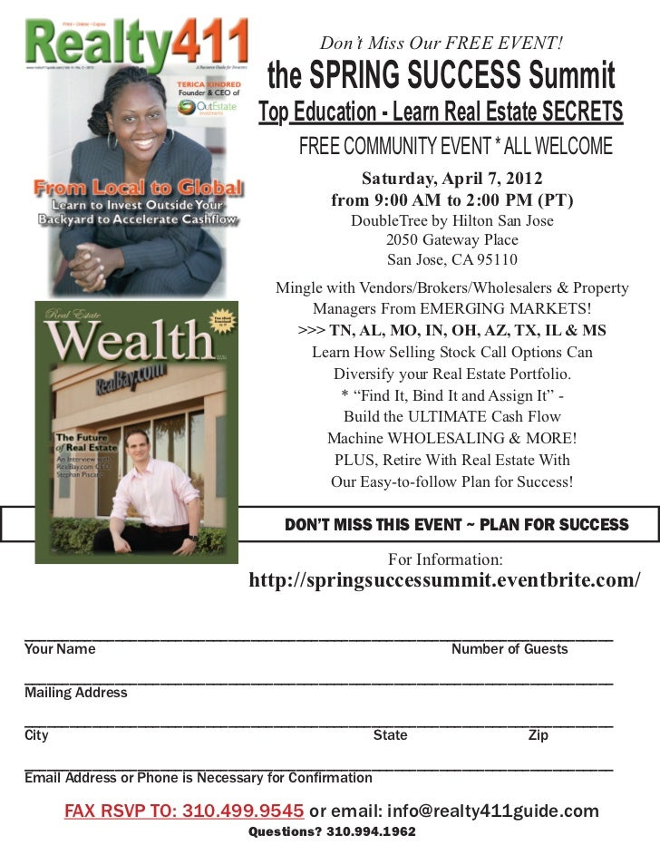Don't Miss Our FREE EVENT!                                the SPRING SUCCESS Summit                               Top Educ...