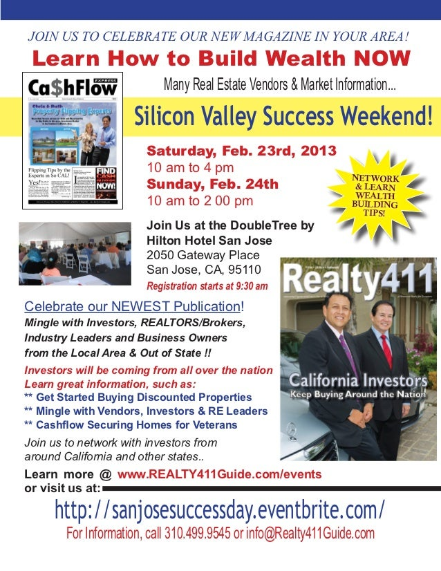 JOIN US TO CELEBRATE OUR NEW MAGAZINE IN YOUR AREA! Learn How to Build Wealth NOW                            Many Real Est...