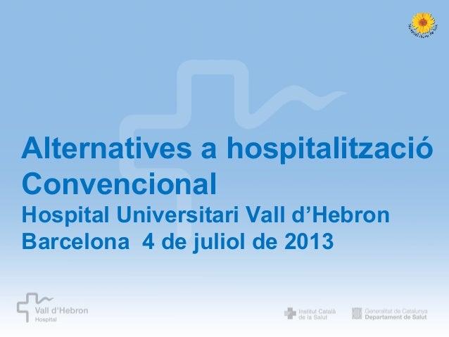AHC. Hospital Universitari Vall d'Hebron 2013