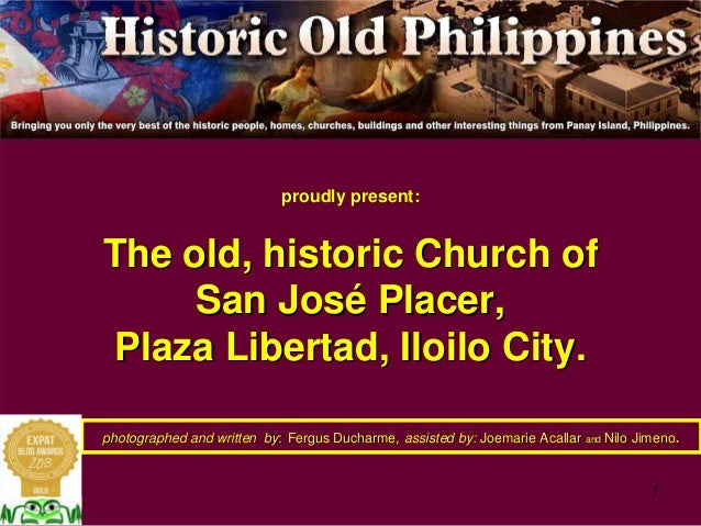 The Church of San Jose Placer, Plaza Libertad, Iloilo City, a historic and important Church
