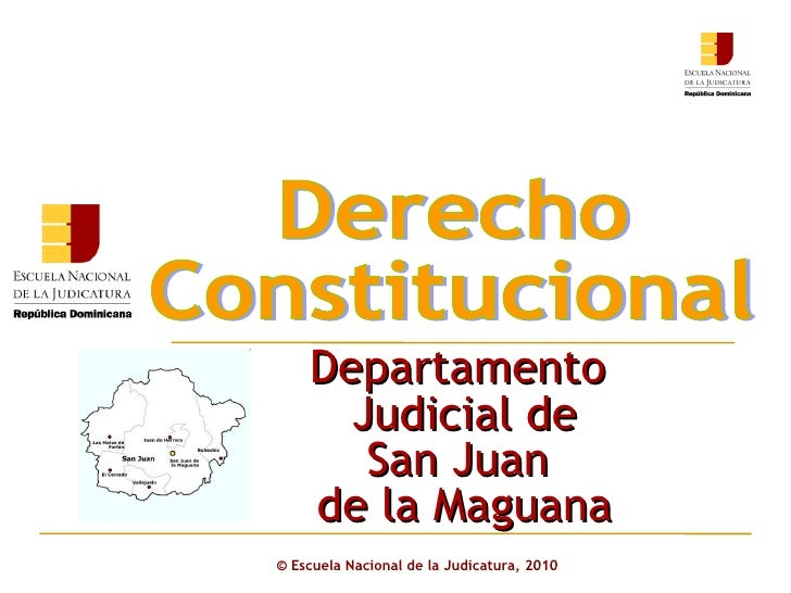 Derecho Constitucional Departamento Judicial San juan 1