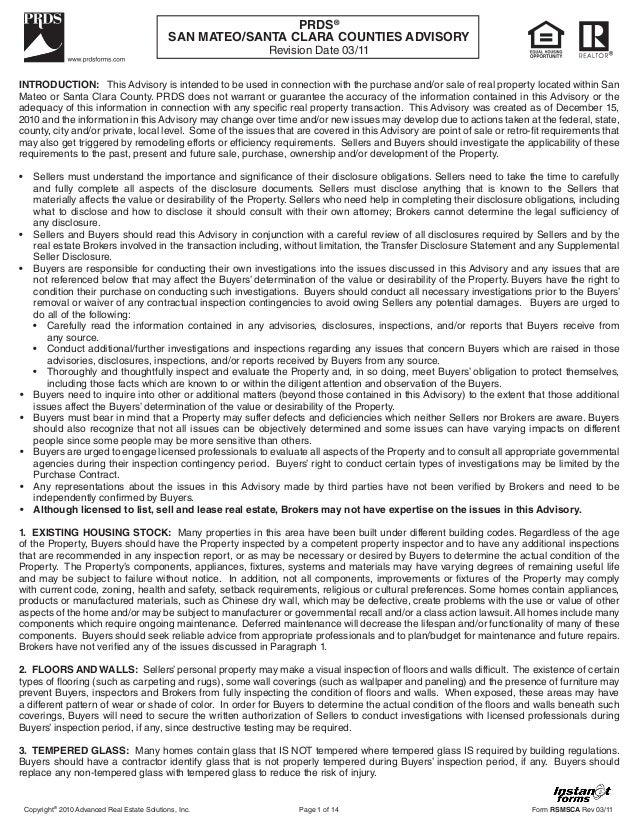 San mateo santa clara counties advisory (rsmsca)