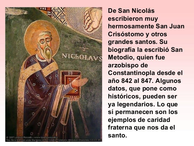 Resultado de imagen para San Nicolás de Mira o Bari, Obispo