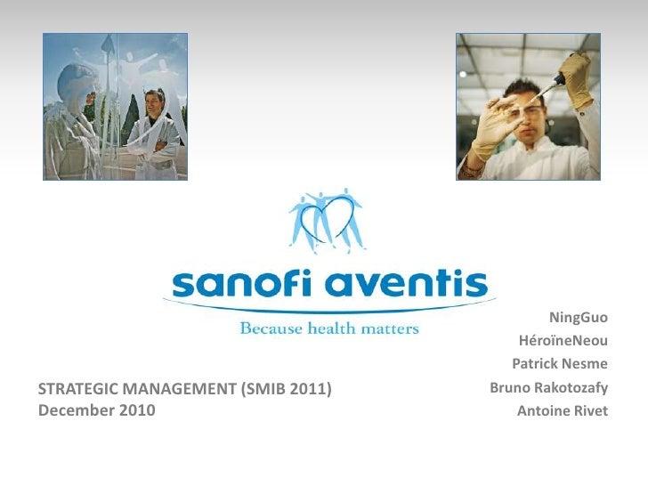NingGuo<br />HéroïneNeou<br />Patrick Nesme<br />Bruno Rakotozafy<br />Antoine Rivet<br />STRATEGIC MANAGEMENT (SMIB 2011)...