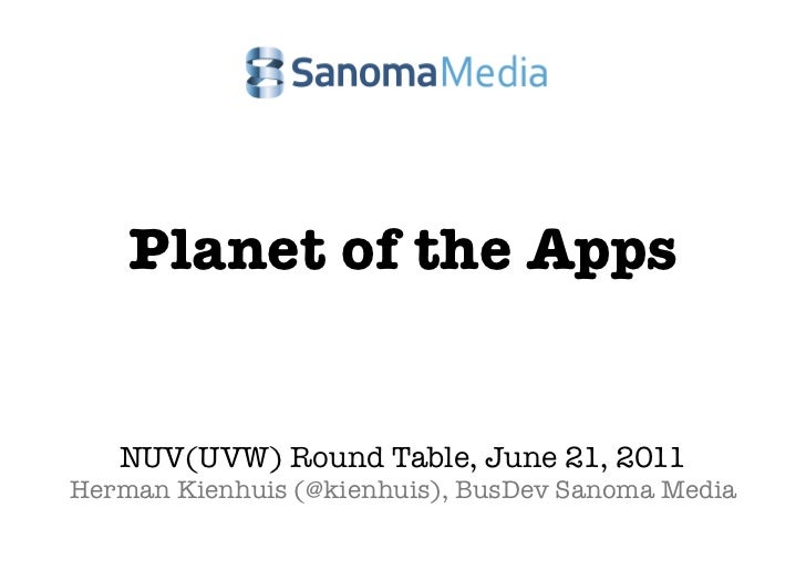Sanoma Planet of the apps (Kienhuis) @ NUV (UVW) round table