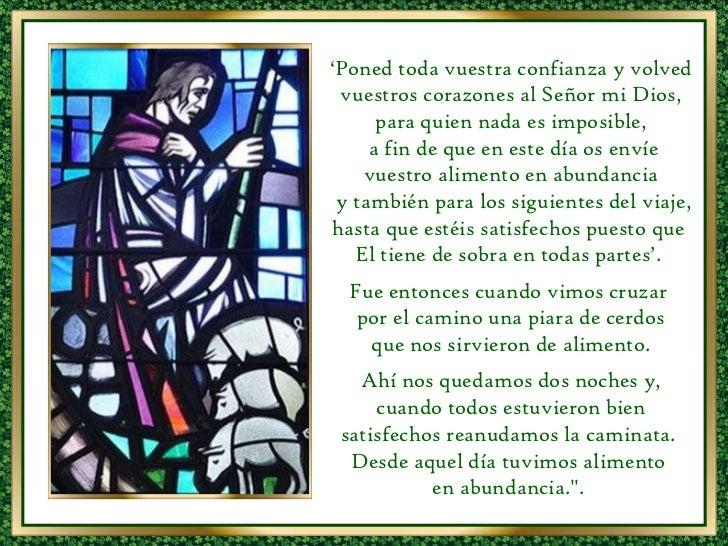 ' Poned toda vuestra confianza y volved vuestros corazones al Señor mi Dios, para quien nada es imposible, a fin de que en...