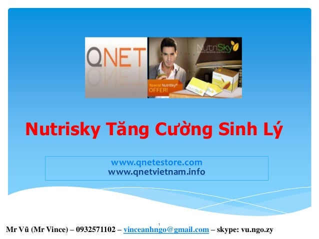 San pham qnet viet nam - Nutrisky Tăng Cường Sinh Lý -  IR ID No VN002907
