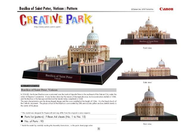 Basilica of Saint Peter, Vatican : Pattern                                                                                ...
