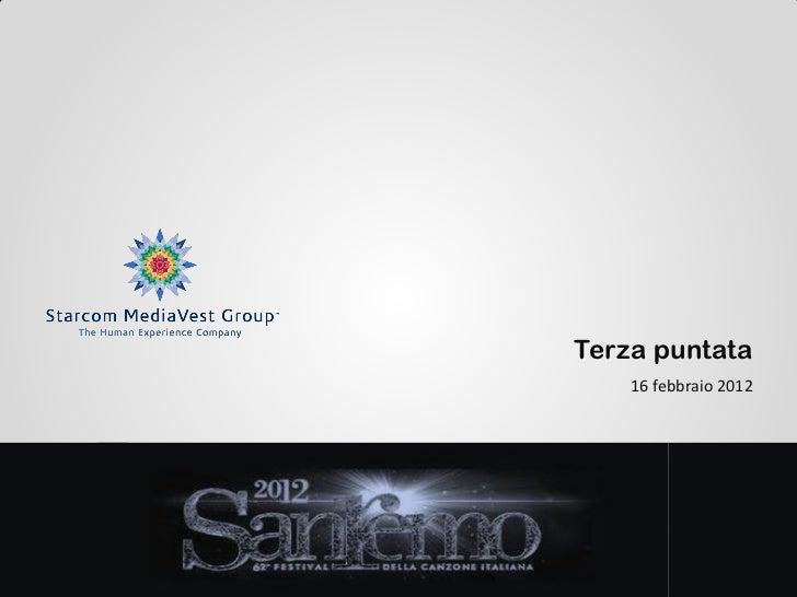 Sanremo 2012  3° puntata starcom