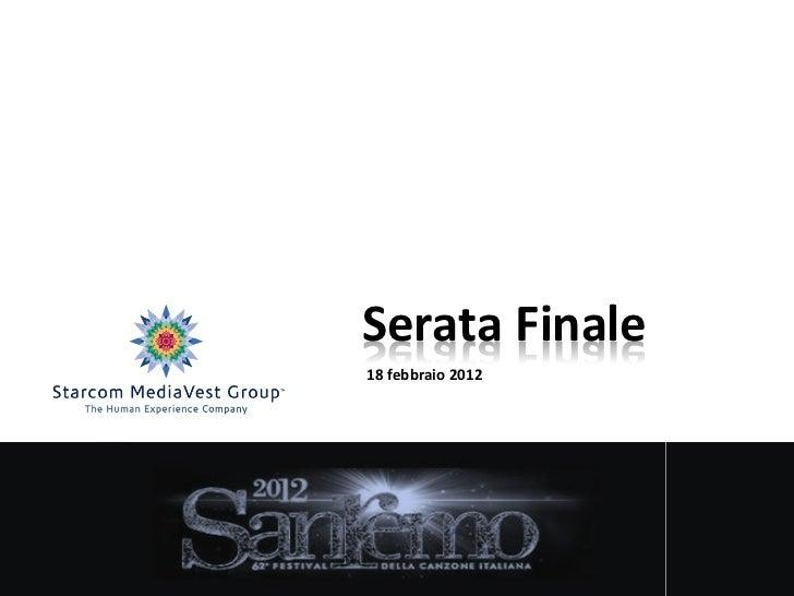 Sanremo 2012  5° puntata starcom