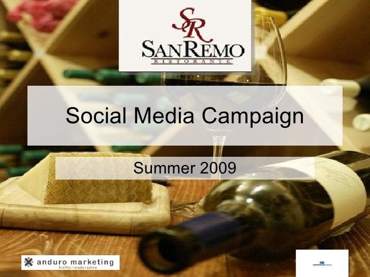 Social Media Campaign Summer 2009