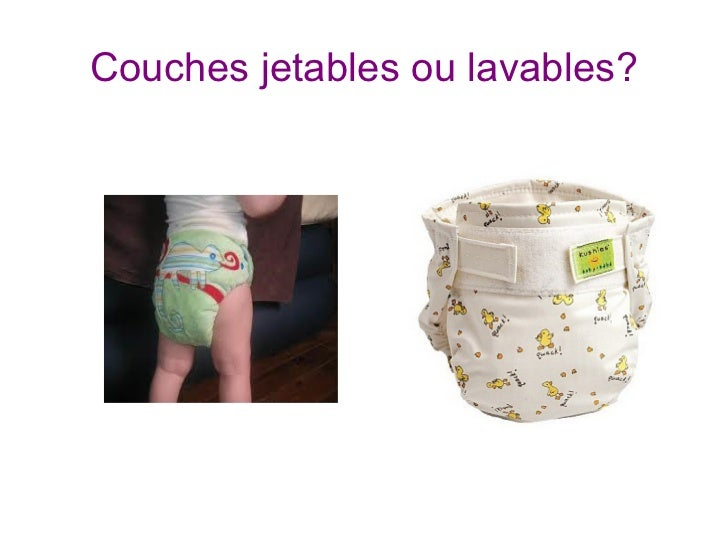 Couches jetables ou lavables?