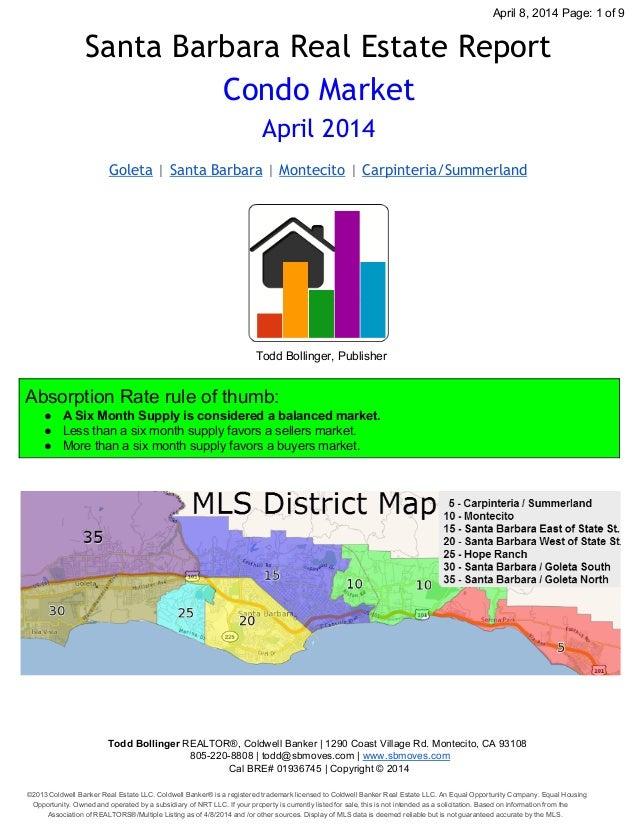 Santa Barbara Condo Market Report – April 2014
