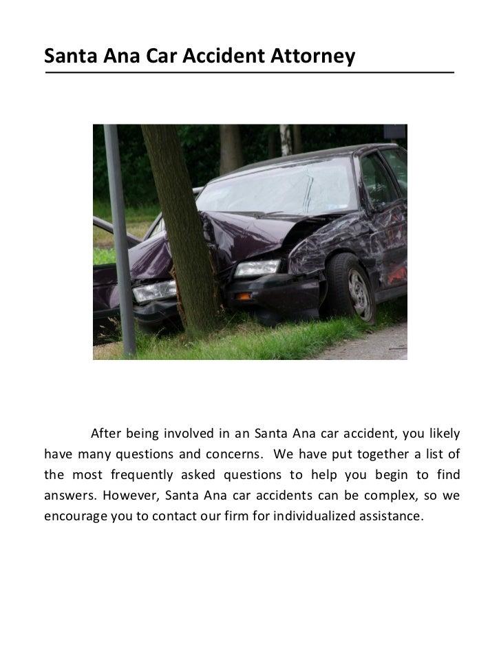Santa Ana Car Accident Attorneys