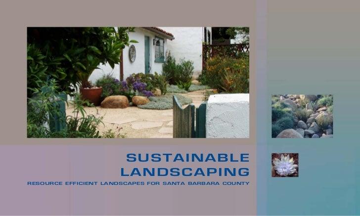 Santa Barbarba Sustainable Landscaping Manual