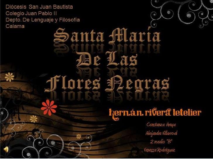 Diócesis  San Juan Bautista<br />Colegio Juan Pablo II<br />Depto. De Lenguaje y Filosofía<br />Calama<br />Santa María De...