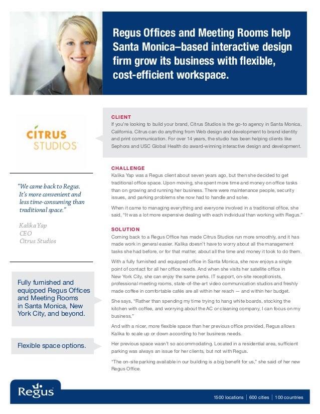 Regus Case Study - Citrus Studios