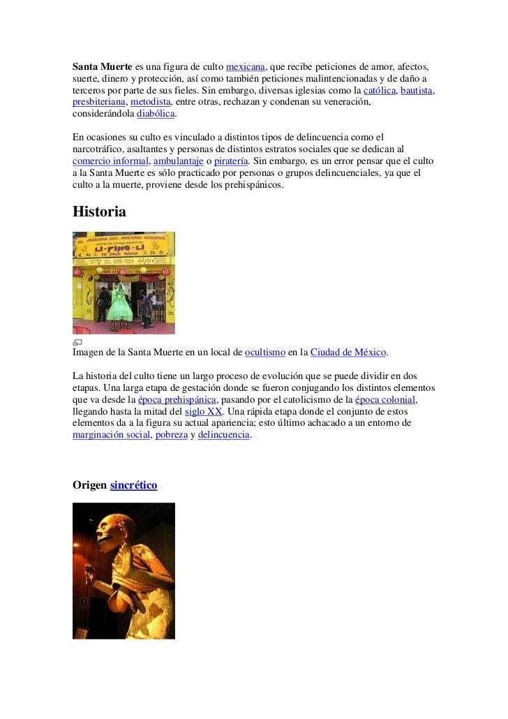Santa muerte es una figura de culto mexicana