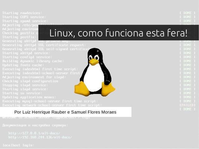 Linux, como funciona esta fera! Por Luiz Henrique Rauber e Samuel Flores Moraes