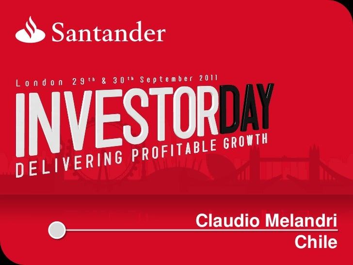 SANTANDER CHILE-SANTANDER INVESTOR DAY 2011