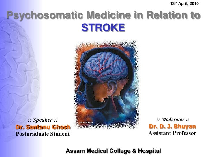 Psychosomatic medicine in relation to stroke